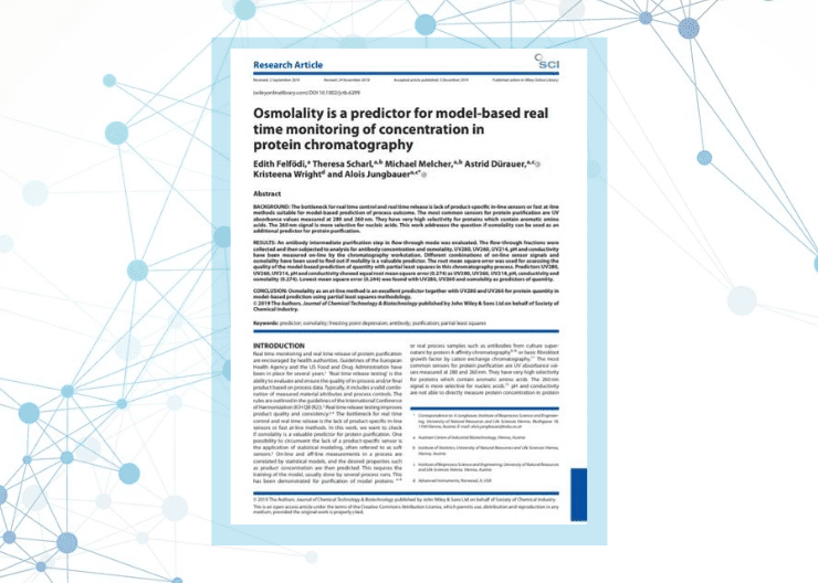 Osmolality as a predictor for model-based real-time monitoring of concentration in protein chromatography (Research Paper)